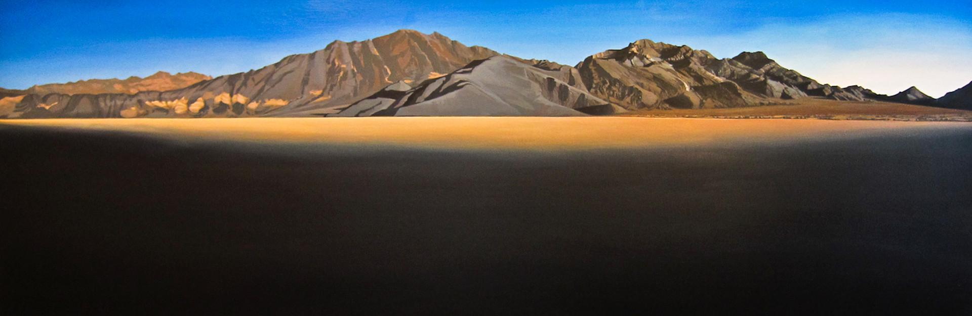 "Racetrack, Death Valley  24""x72""  arylic on canvas  2010"