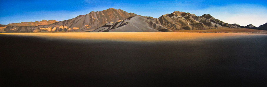 "Racetrack, Death Valley  24""x72""  arylic on canvas  2010"