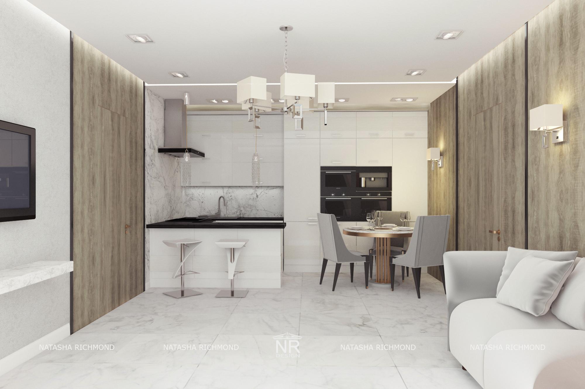 Кухня-гостиная ЖК Лайнер
