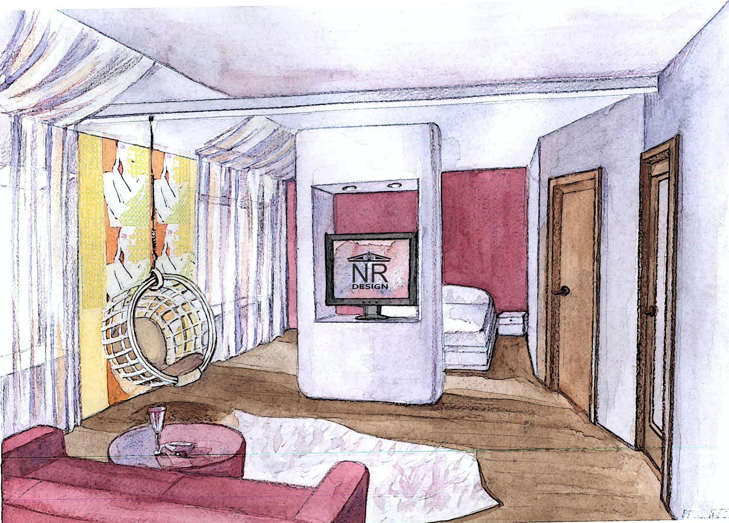 Спальня вид 1