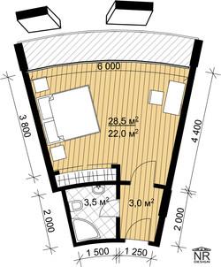 План номера 1 комнатного