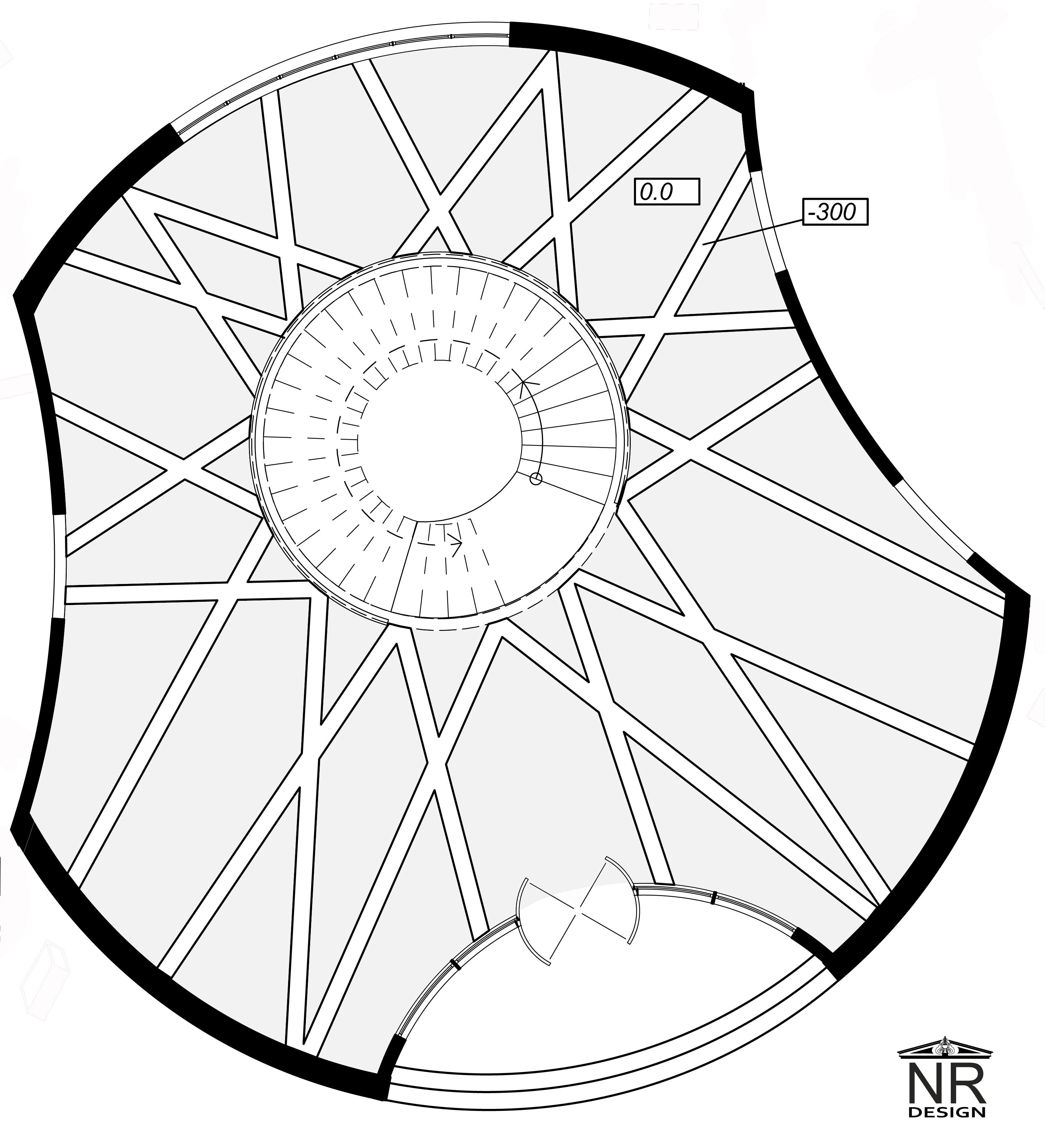 План потолка 1 этаж ХОЛЛ