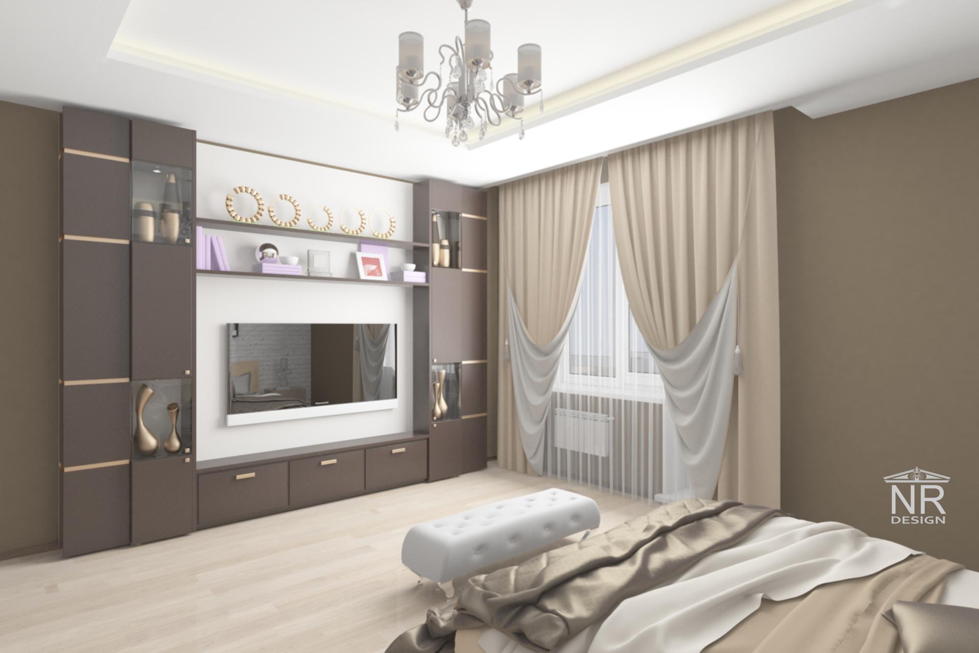 Спальня 3D вид 2