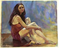 Автопортрет. Картон, масло. 2004