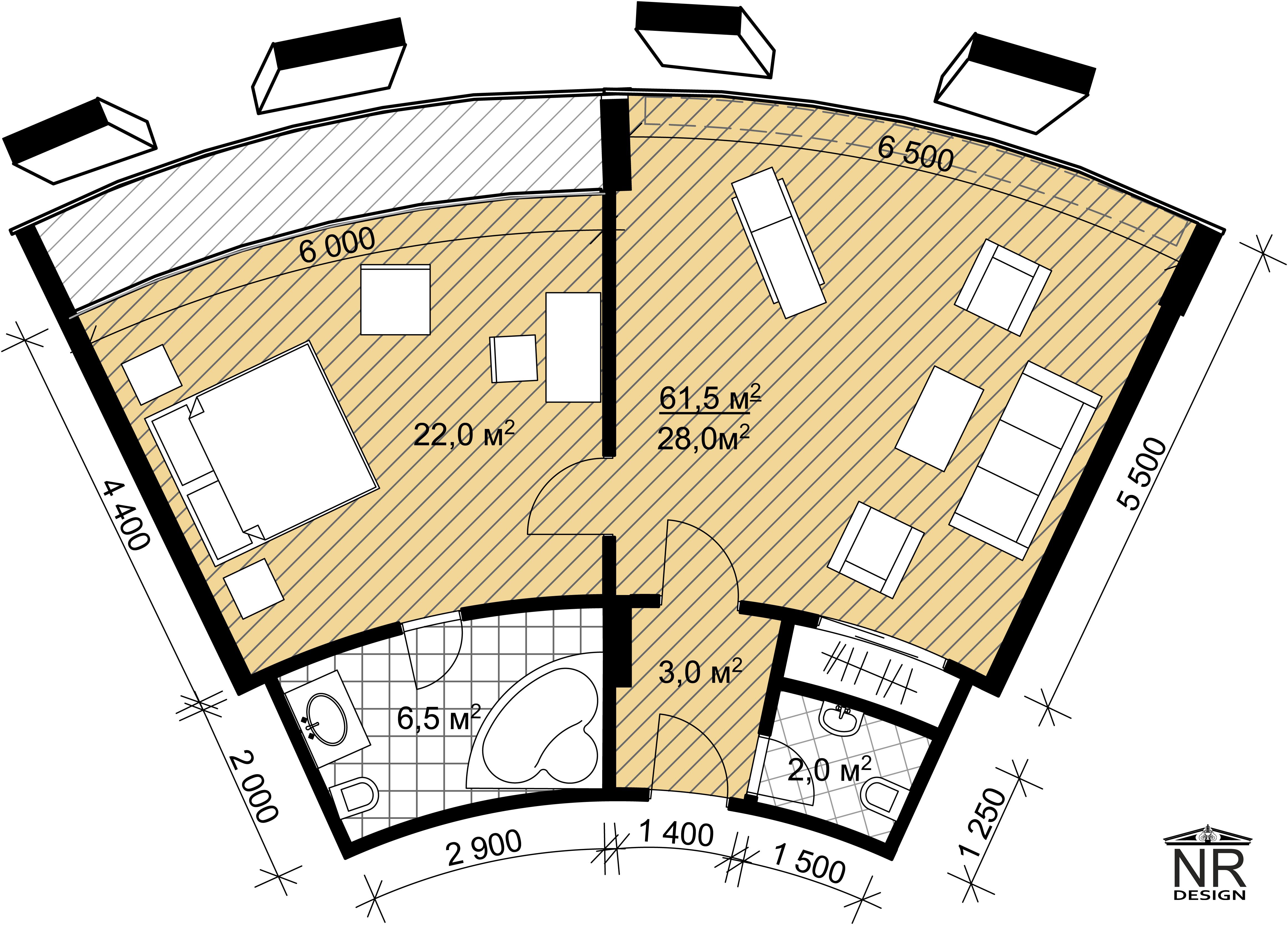 План номера 2 комнаты