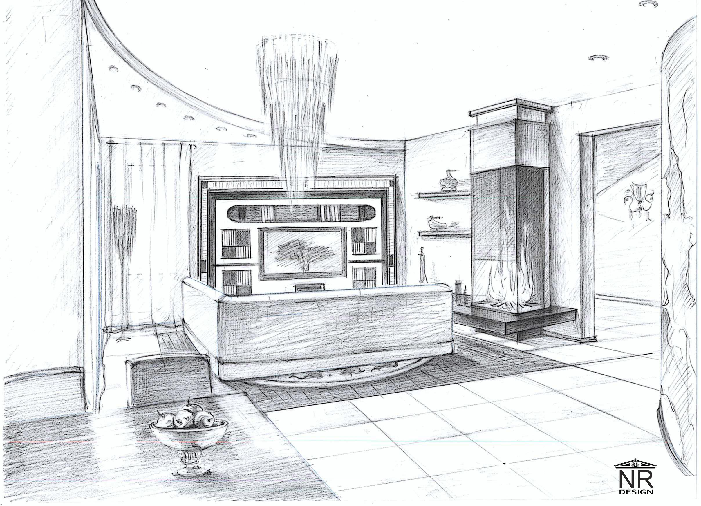 Кухня-гостиная вид 1