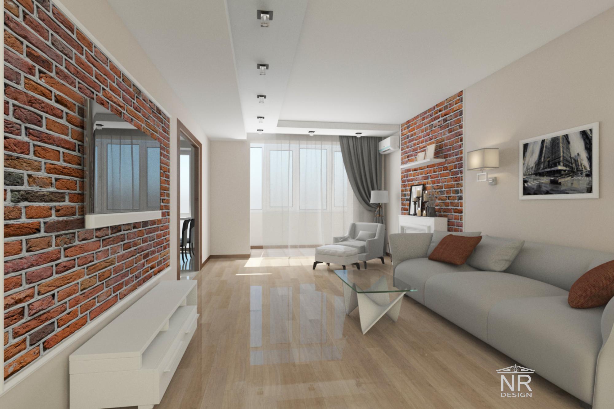 Гостиная 3D концепция