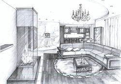 Кухня-гостиная вид 2