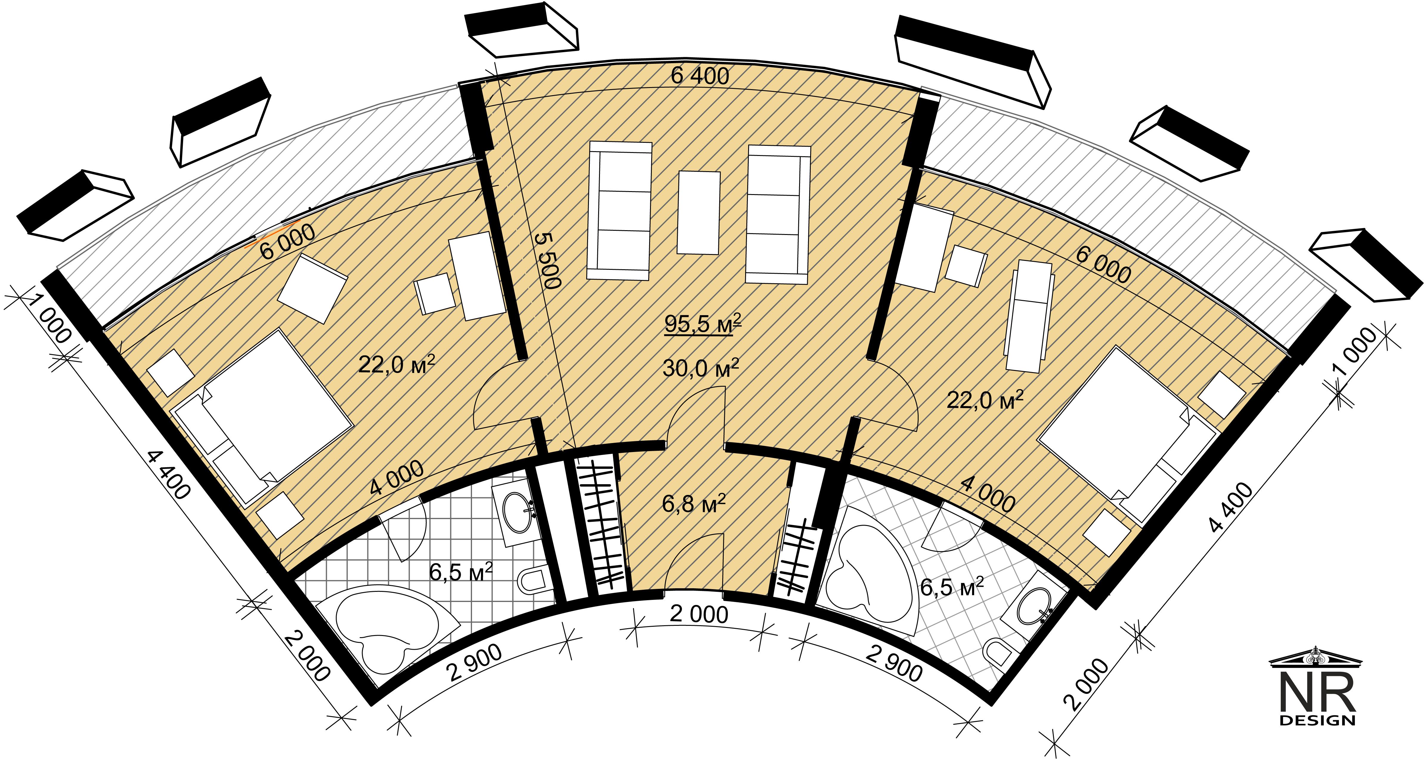 План номера 3 комнаты