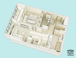 План 3D. Планировочная концепция