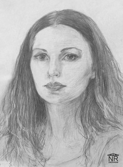 Автопортрет 2004. Бумага, карандаш.