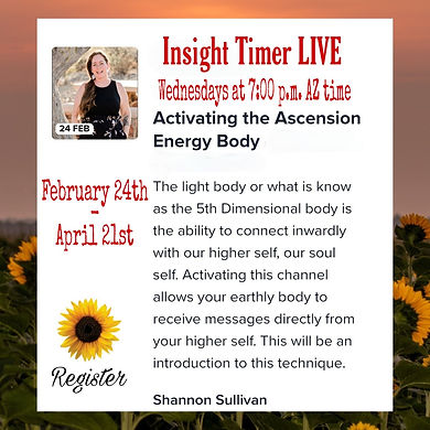 Insight Timer Live event hosted by Shannon Sullivan