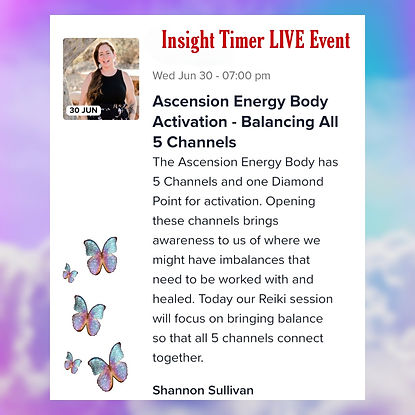 Insight Timer Live Ascension Energy Body Class