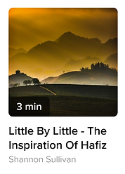 This is an audio poem by Hafiz, a sufi poet.