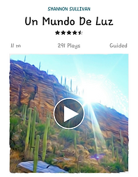 This is a guided meditation in spanish.