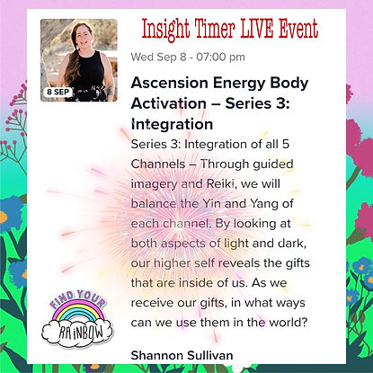 Ascension Energy Body Activation Insight Timer Live Event Series 3 Integration
