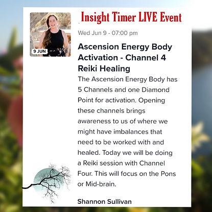 Insight Timer Live Event Ascension Energy Body Channel Four