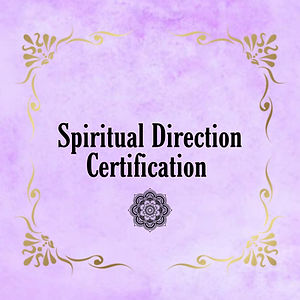Spiritual Direction Certification document
