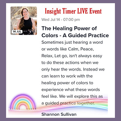 Insight Timer LIve Event Healing Power of Colors