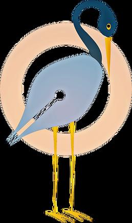 The Blue Heron Creates logo