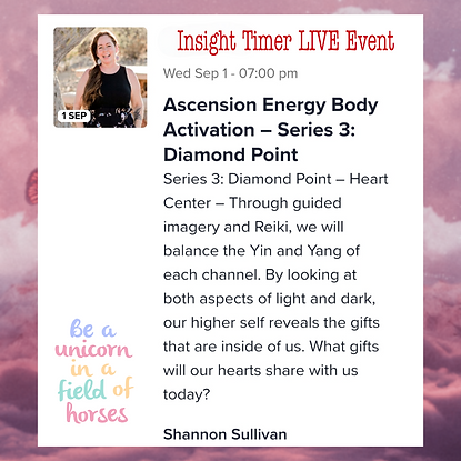 Ascension Energy Body Activation Insight Timer Live Event Series 3 Diamond Point