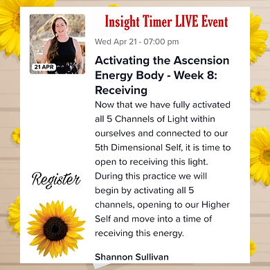 Insight Timer Live event hosted by Shannon Sullivan about soul connection.