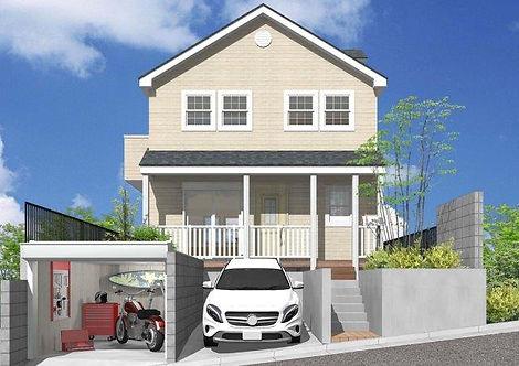 カリフォルニア住宅 サーファーズハウス 座間 建売 分譲 外観