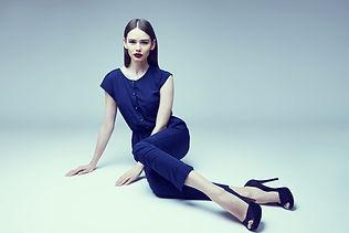 Loyal sitting Model illustrated woman