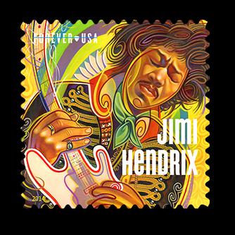 Gear Haiku #18 - Jimi Hendrix USPS Stamp