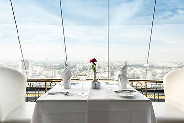 Empty glasses set in restaurant.jpg