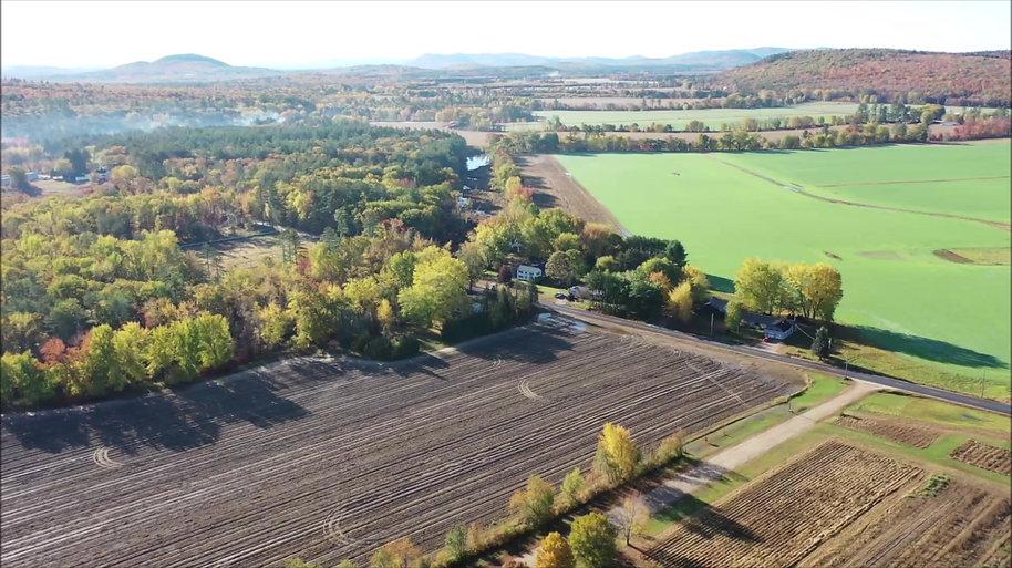 Aerial Views of 512 Fish Street, Fryeburg, Maine