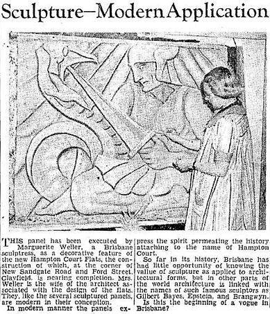 Hampton Court | The Courier-Mail, 1938