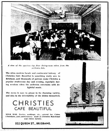 Christies Cafe | The Courier-Mail (1938)