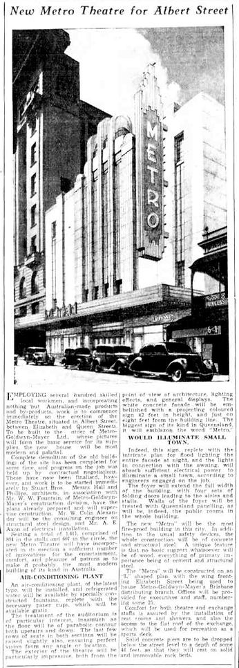 Metro Theatre | The Telegraph, 1936