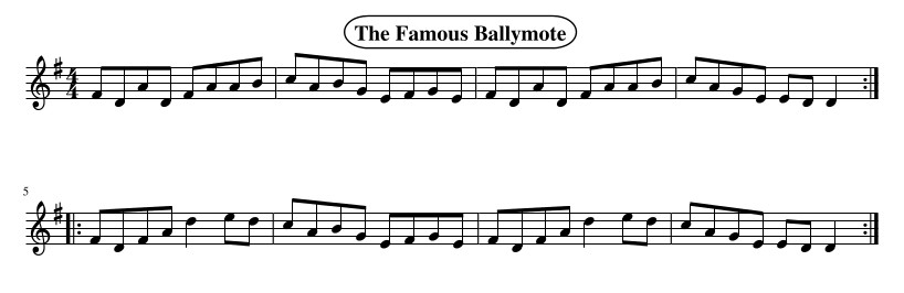 What key is the FamouWith an F#, this is a much more flute and whistle-friendly tune!s Ballymote Reel in?