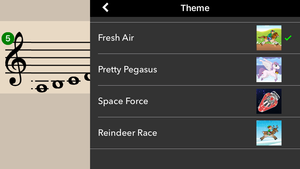 Flashnote Derby theme options.