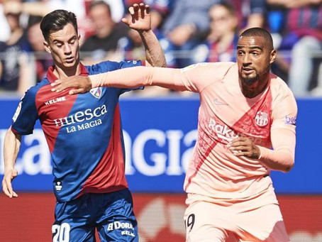 Barcelona held to goalless draw at Huesca as Messi, Suarez rested