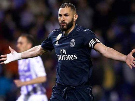 Benzema support ends Real Madrid's horror run in gain Valladolid