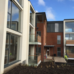 side view of new flats
