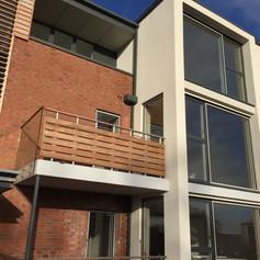 new balcony of flats