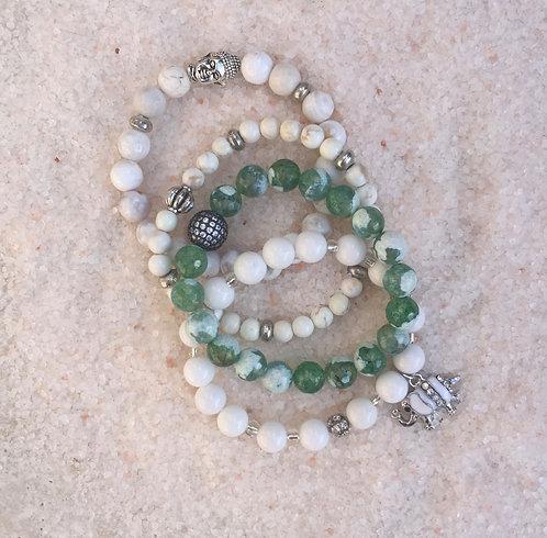 Agate Beads, Skull, Elephant - set of 3