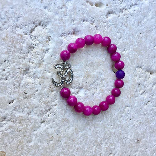 Pink Jade with pave Ohm