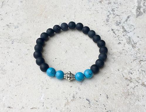 Howlite and Onyx Bracelet