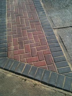 herringbone block paving