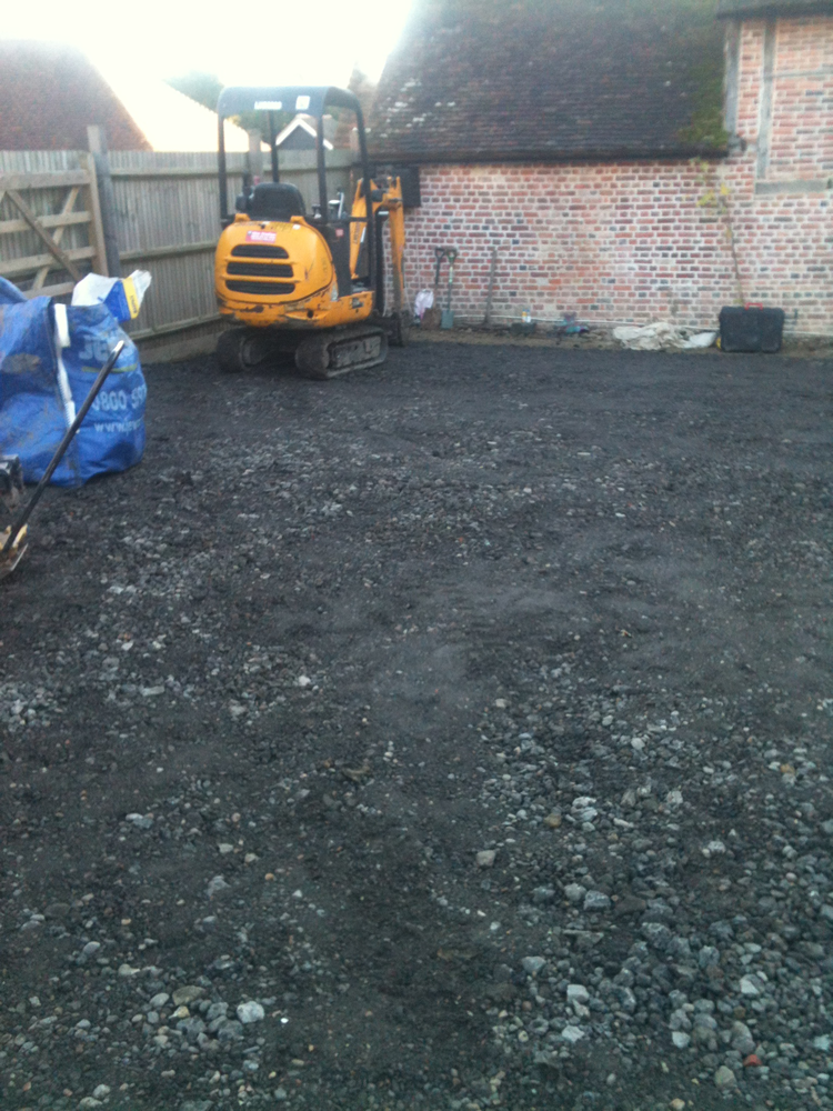 blockpaving digger