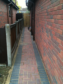 side alley block paving