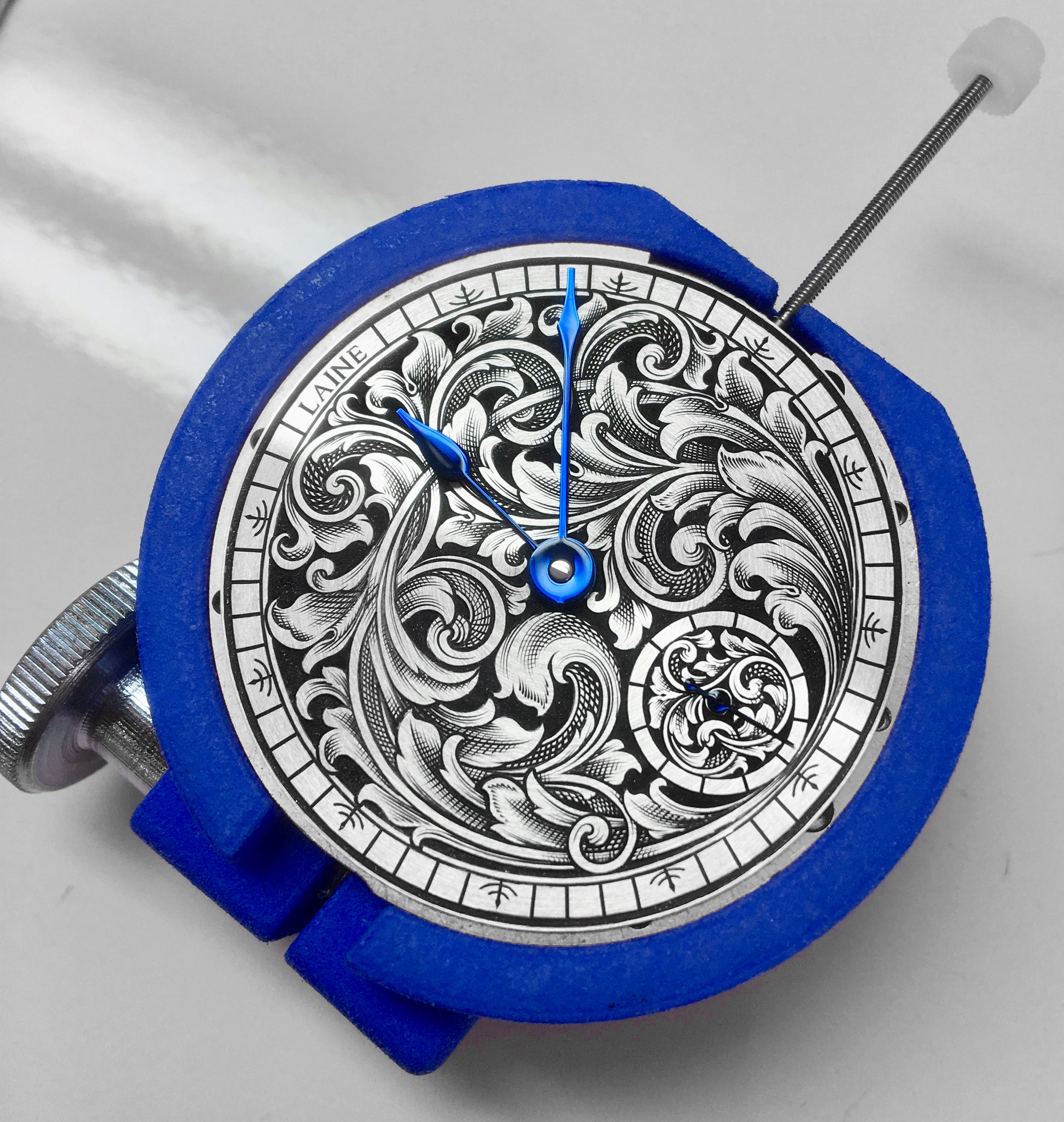 engraved dial without case