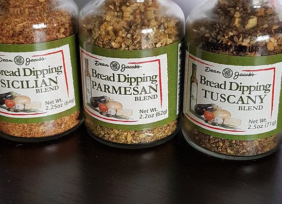 Bread Dipping Blend - Set Of 3 - 2.25 oz Glass Jars
