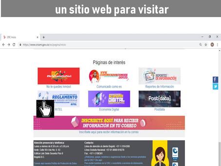 El micrositio web RITEL de la CRC, una página para visitar