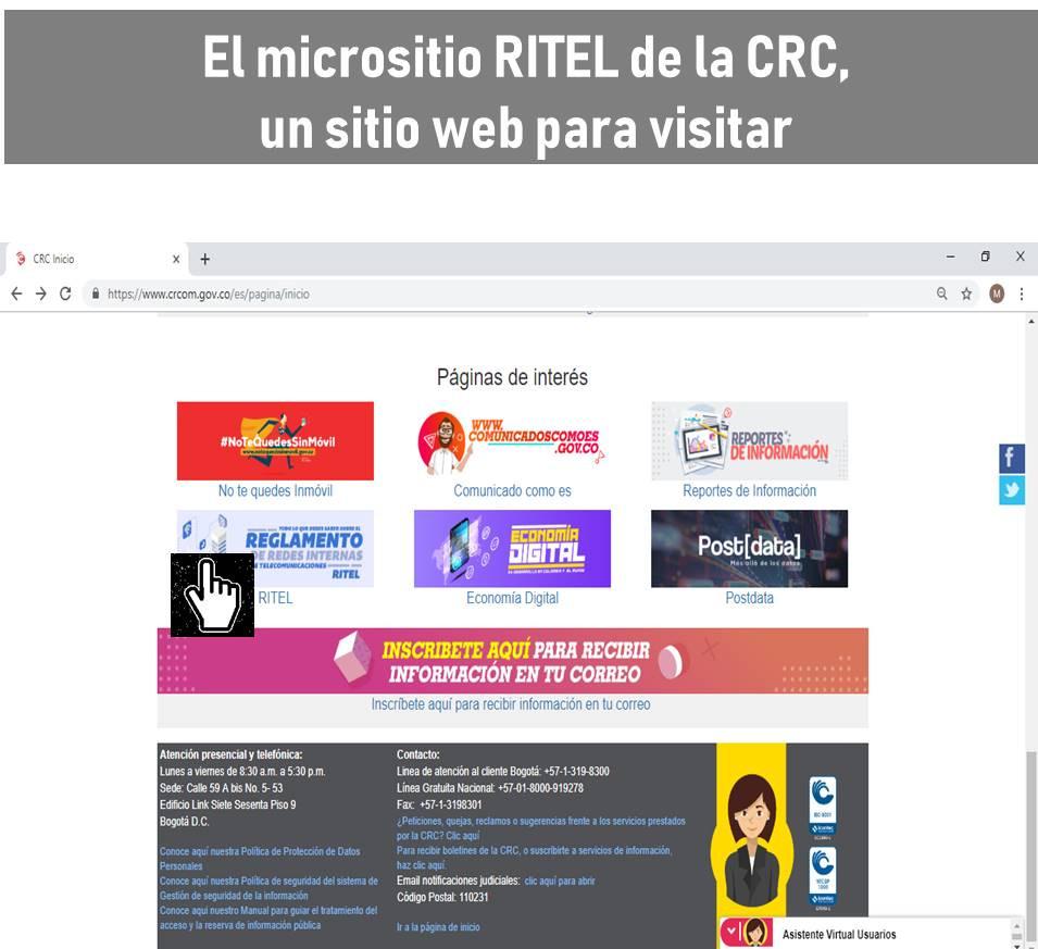 Micrositio RITEL de la CRC